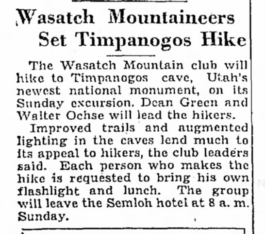 - [Wasatch Mountaineers Set Timpanogos Hike The...