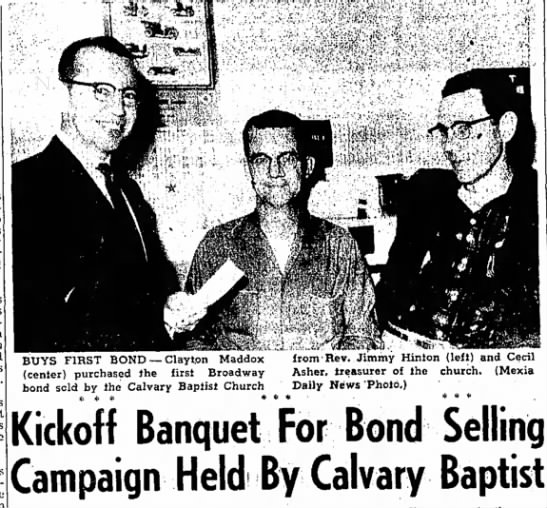 - BUYS FIRST BOND — Claytpn Maddox (center)...