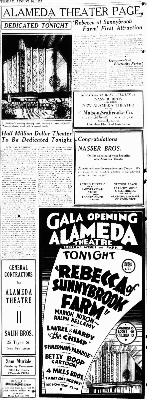 Alameda Theatre opening