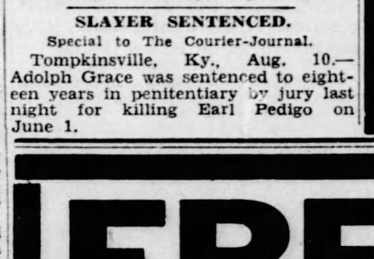 Man sentenced for killing Earl Pedigo - 1 ! j SLAYER SENTENCED. Special to The...