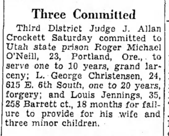 Another time out... - Three Committed Third District Judge J. Allan...