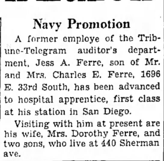 23 Sept 1945 - Navy Promotion A former employe of the...