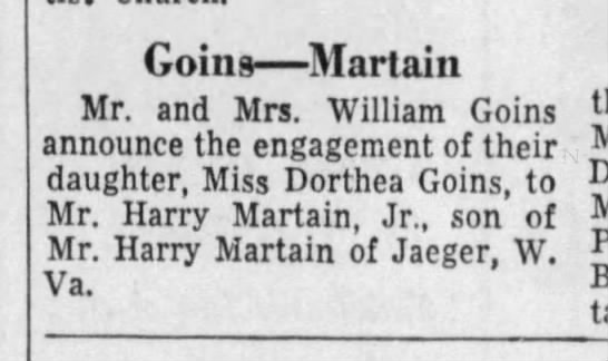 Neighborhood - Goins Martain Mr. and Mrs. William Goins...
