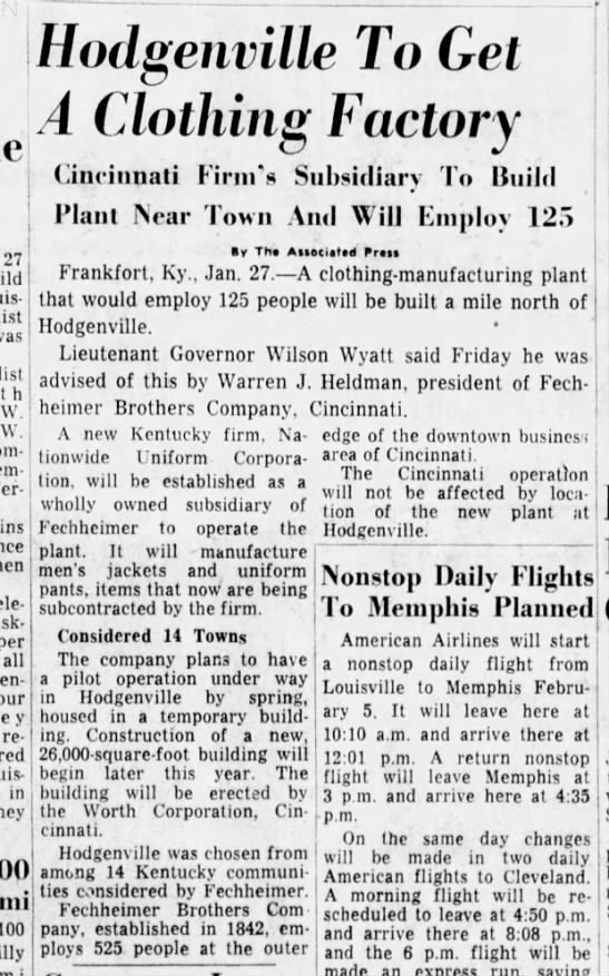 1961 - Nationwide - I 27 was W. W. per all four repairs, in 100...