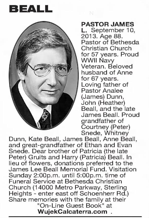 James Lee Beall obit