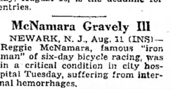 - entries. McNamara Gravely 111 NEWARK, N. J.,...