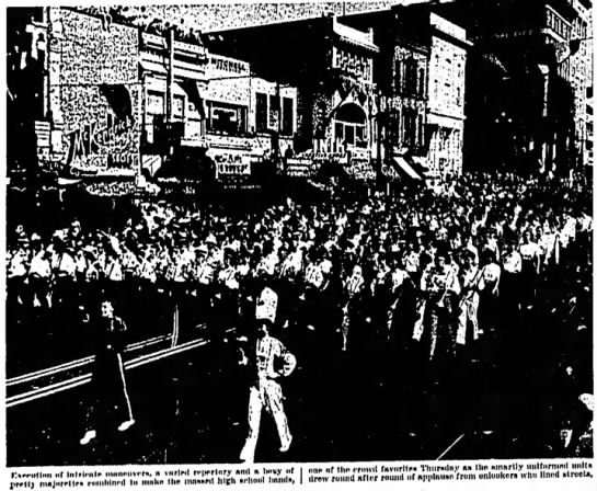 Mass Bands from Juab and Utah Counties - Centennial Parade July 24 1947- Keith Brady on front row - lltrriiilmi ..f liflrli-Hlr .imnnnvrr.. »...