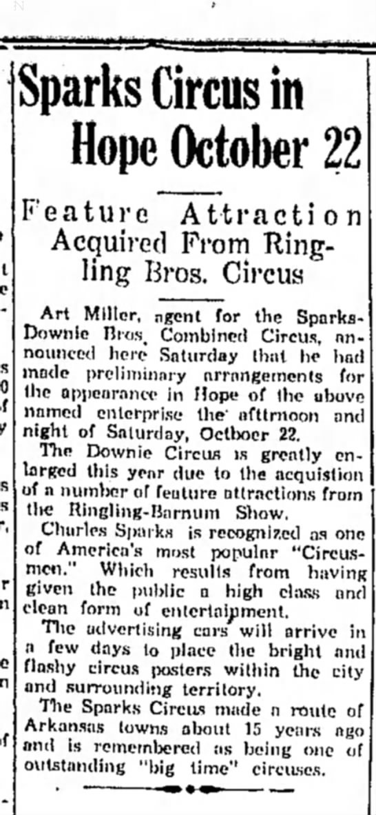 Sparks Downie Bros Combined Shows