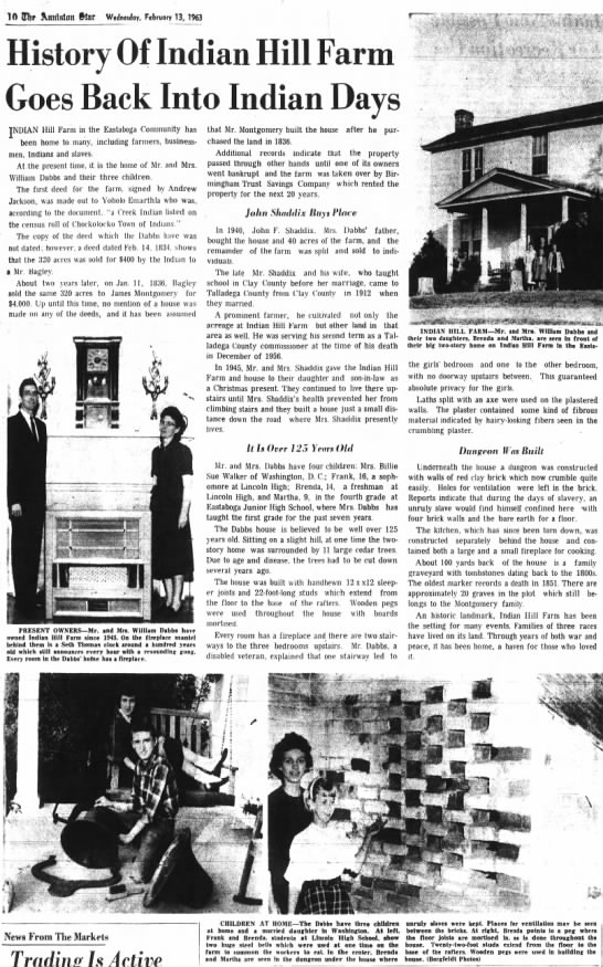 William Dabbs Home from Anniston Star - 13 Feb 1963 - 10 QJ!f Annlalmt tar Wednesday, February 13,...