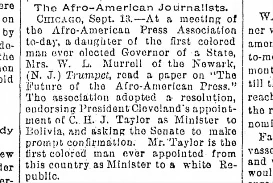 1893-09-14-SaltLakeTribune-p1-Afro-AmericanJournalists - on by decided the old Tho Afro-American...