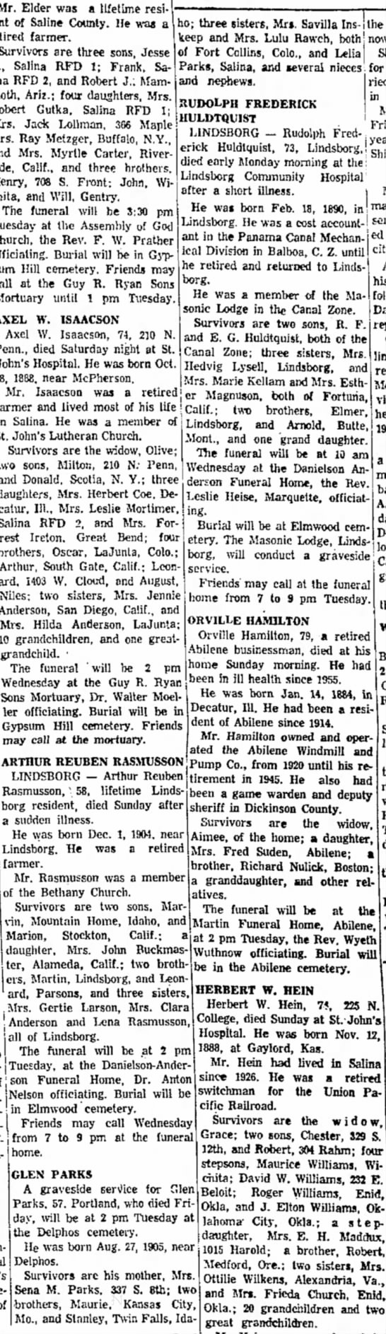 Glen Parks obit