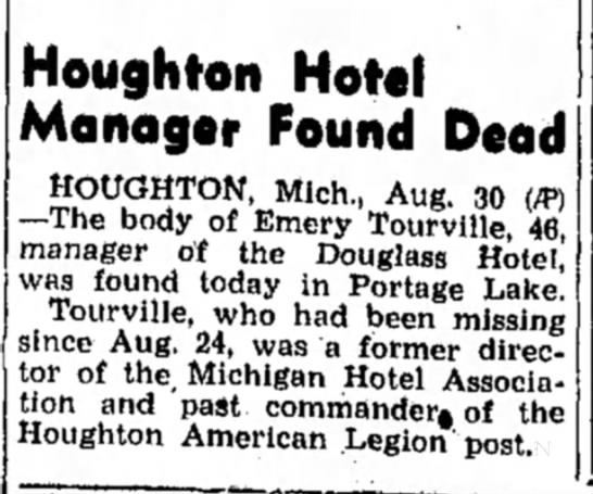 - Houghton Hotel Manager Found Dead HOUGHTON,...