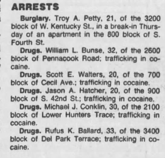 Neighborhood - ARRESTS Burglary. Troy A. Petty, 21, of the...
