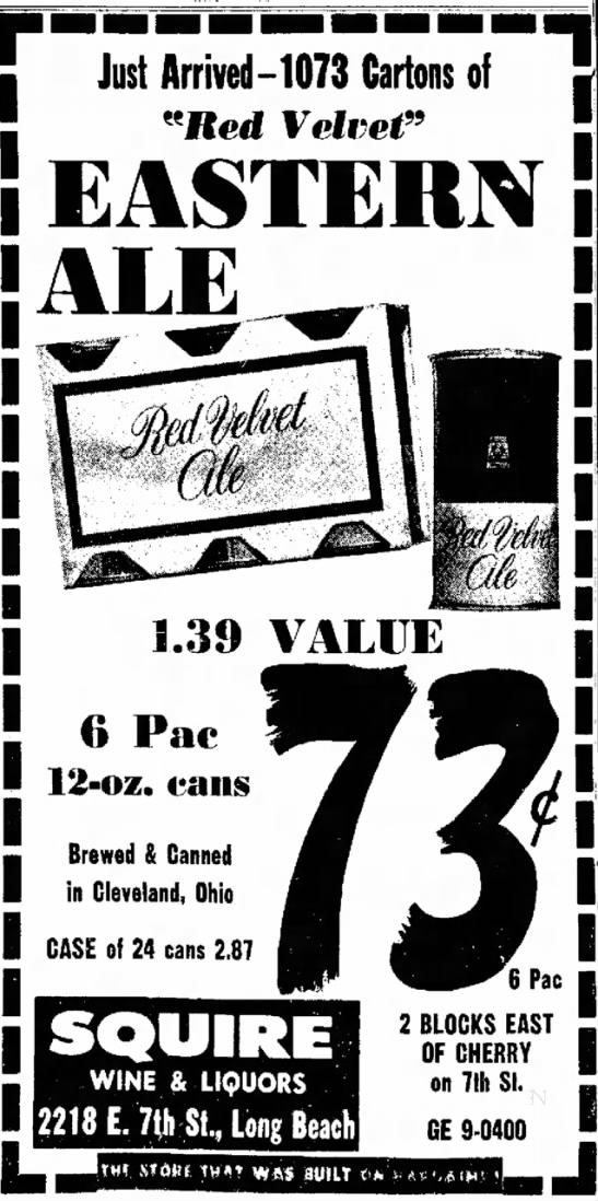 """may, 1961. - I Just Arrived-1073 Cartons of [ """"Red Velvet"""" i..."""