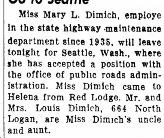 Family?? - the at Miss Mary L. Dimich, employe in the...