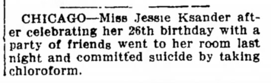 Sandusky (OH) Star-Journal, 15 May 1916, p. 2 - camp CHICAGO--Miss Jessie Ksander after after...