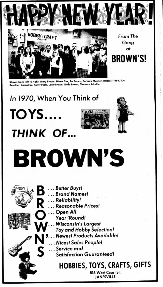 Brown's Ad