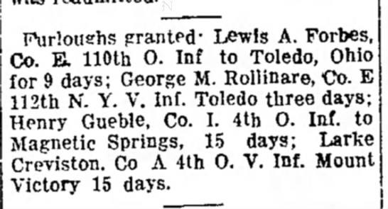 Henry Gueble - . a y Furloushs prantPd- Lewis A. Forbes, Co....
