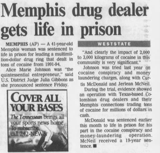The Tennessean (Nashville, TN) 2/23/1997 - Memphis gets life in MEMPHIS (AP) A 41-year-old...