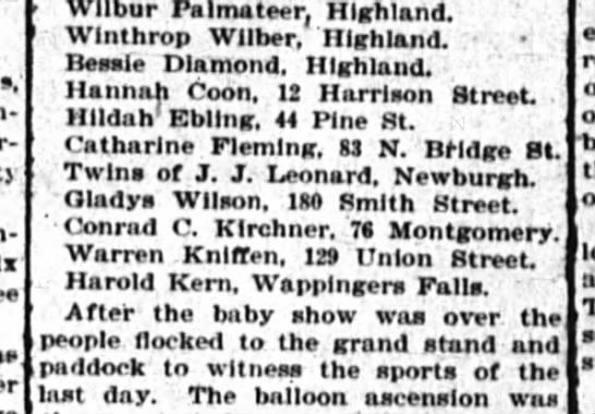 Hildah Ebling - - Wilbur Palmateer, r, niini.no. Wlnthrop...
