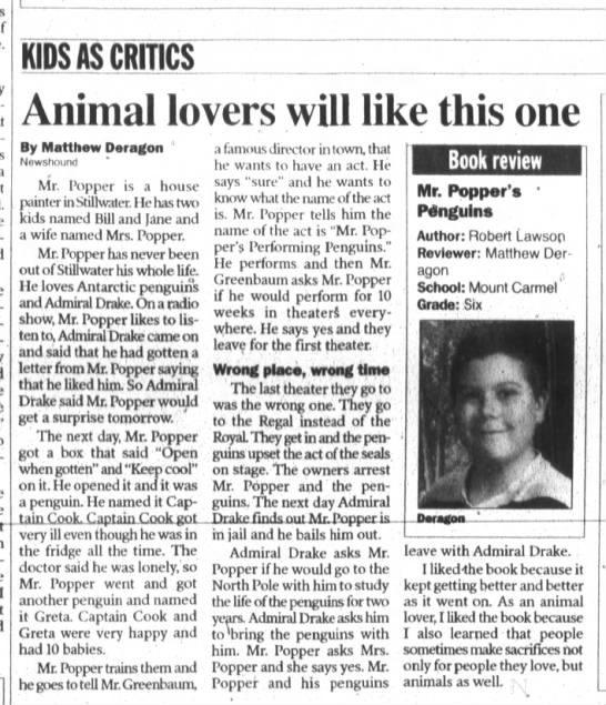 - KIDS AS CRITICS Animal lovers will like this...