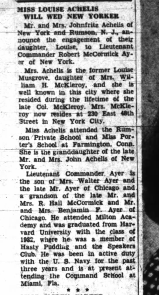 12 sep 1943 musgrove' - miss i.iviok. - WILL WED NEW ORKEB , Mr. and...
