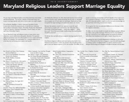 Susan Davison archer rev. marriage equality - We are clergy and religious leaders across...