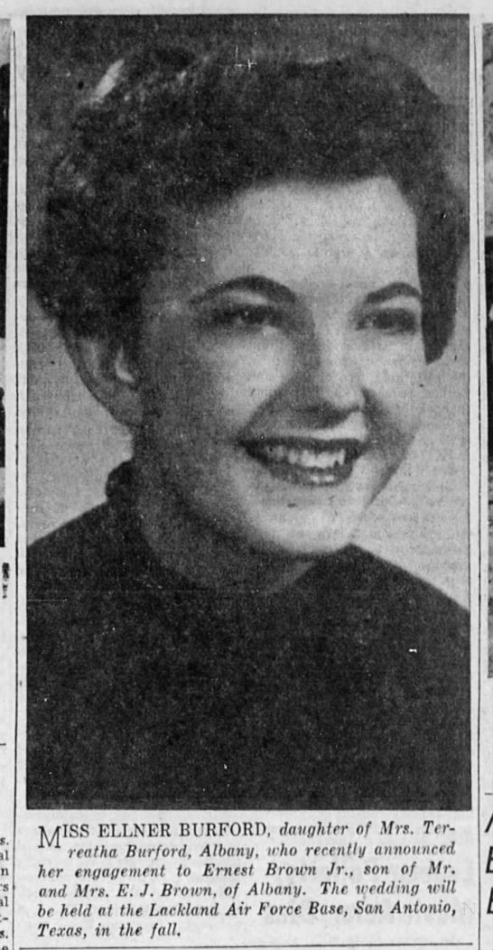 1954 Photo Ellener Sharon Burford - J I j4 c :.f.HIa . j' srr X Miss ELLNER...