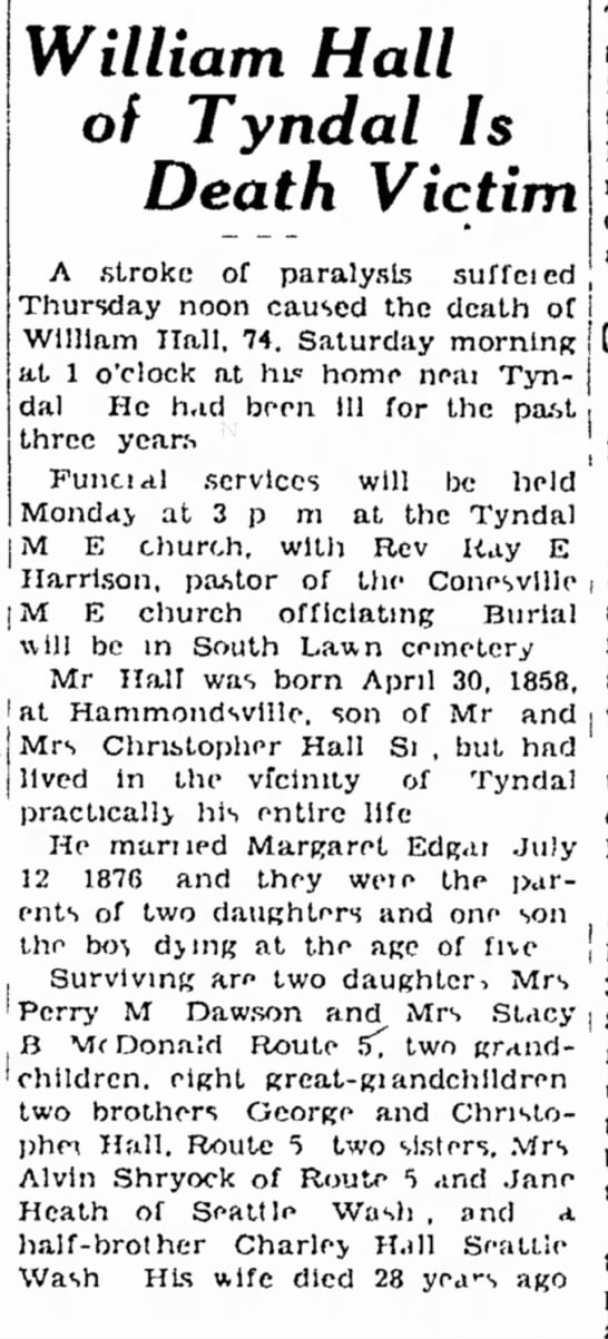William Hall Obituary - in chairman and i T as he president the William...