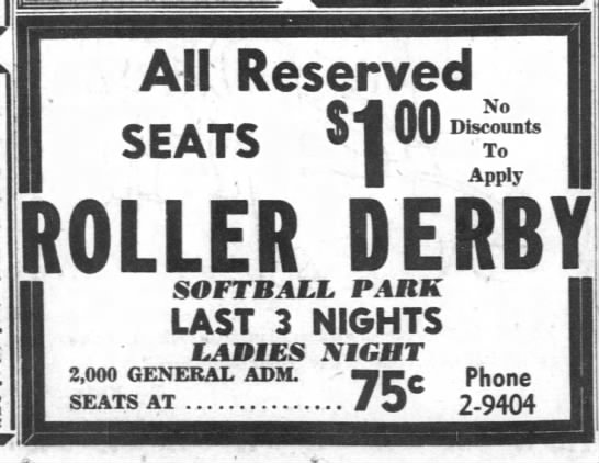 06-19-52 Phoenix, AZ - All Reserved SEATS Diunts U s Appjy SOFTBALL...