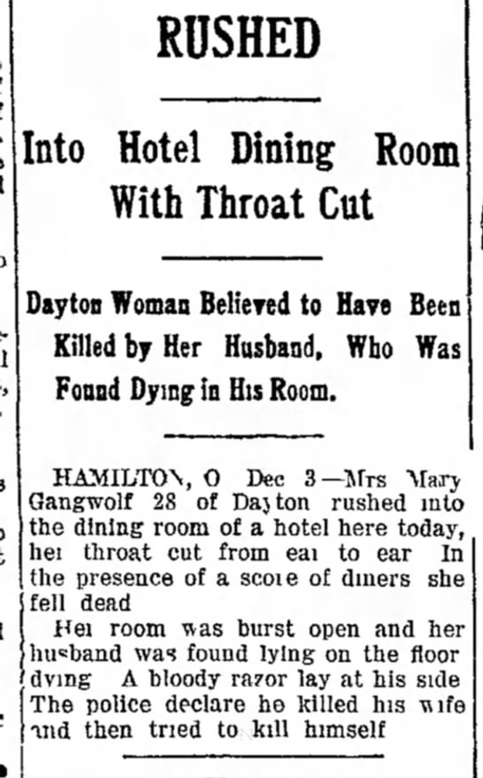 Lillian Gangwolf's death - 13 of of v yon to accident it, this so it...
