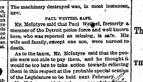 Detroit Free Press, September 14, 1881 - all The machinery destroyed was, in most...