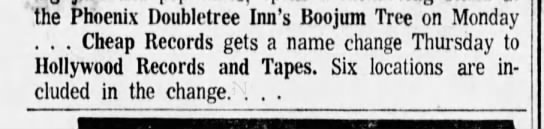 27 sep 1977 - the Phoenix Doubletree Inn's Boojum Tree on...