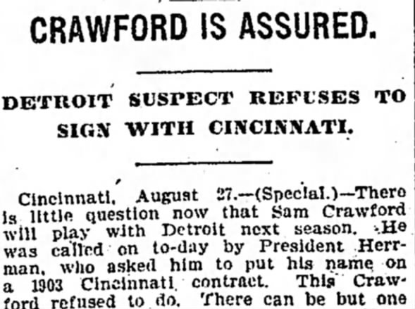 Crawford Is Assured