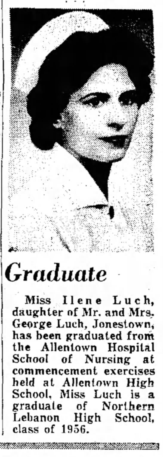 Ilene Luch - Graduate Miss Ilene Luch, daughter of Mr. and...