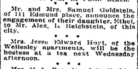 Detroit Free Press 2 May 1915 p45 col3 - Mr. and Mrs. Samuel Goldstein.! oi in Kdmuiid...