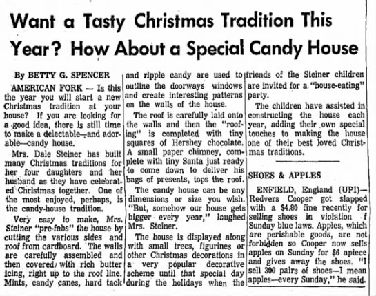 Candy houses a family tradition at Christmas - Want a Tasty Christmas Tradition This Year? How...