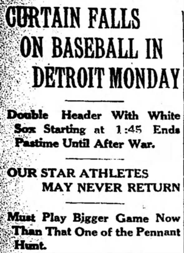 Tigers History: Curtain Falls on Baseball in Detroit Monday
