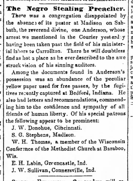 UGRR Elijah Anderson papers names abolitionists - The Negro Stealing- Stealing- Ptfeacller. There...