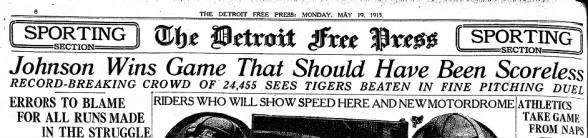 Tigers History: Johnson Wins Game That Should Have Been Scoreless