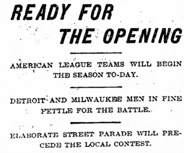 Tigers History: Ready for the Opening, 1901