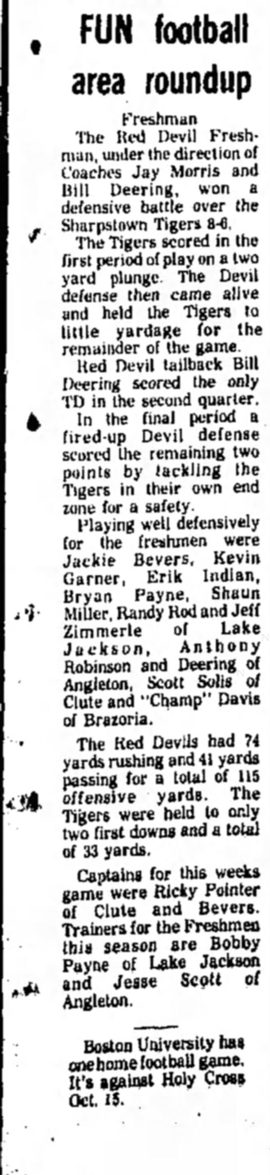 Brazosport Facts