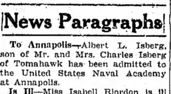 Rhinelander Daily News 3 Jul 1931 - (News Paragraphs! To Annnpolis-rAlbert L....