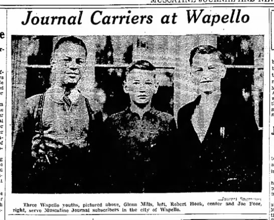 - Journal Carriers at Wapello —Tourn-.l...