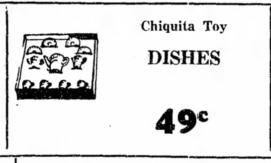 - Chiquita Toy DISHES