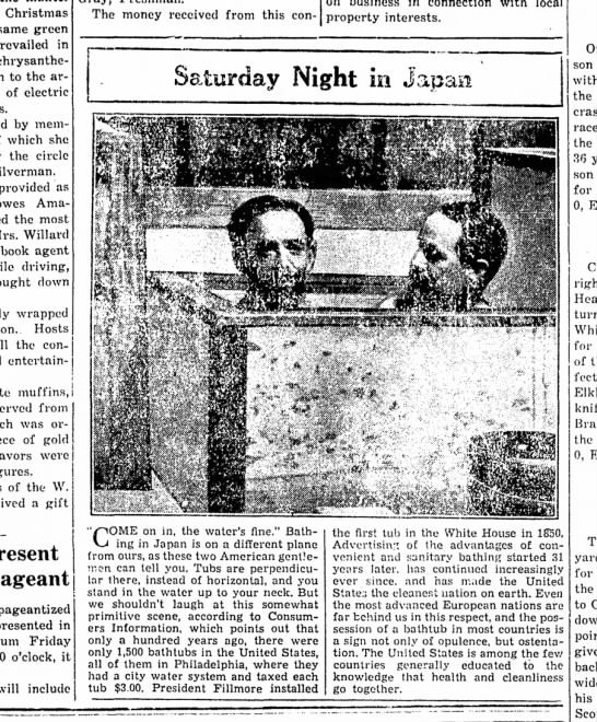 Saturday Night in Japan Bath