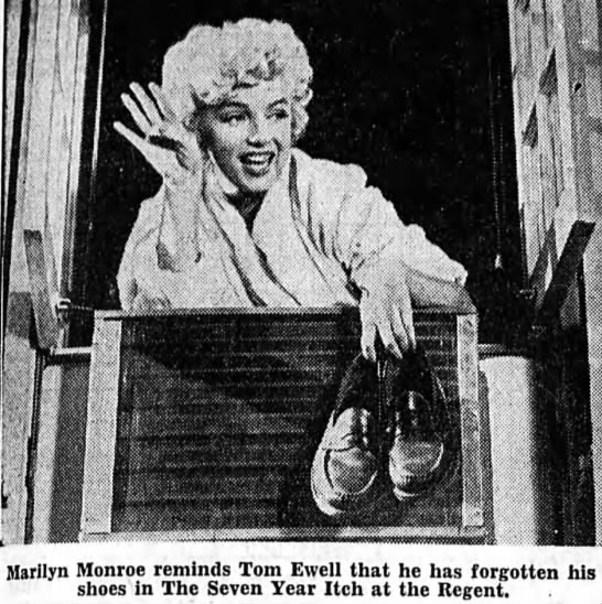 Marilyn in The Seven Year Itch - Marilyn Monroe reminds Tom Ewell that he has...