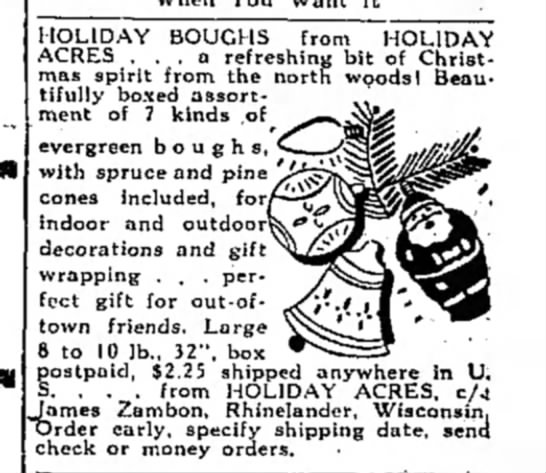 Holiday Boughs - HOLIDAY BOUGHS from HOLIDAY ACRES ... a...