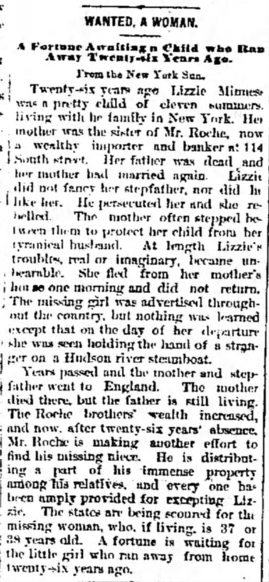 weird rochestory 18SEP1874 Milwaukee News