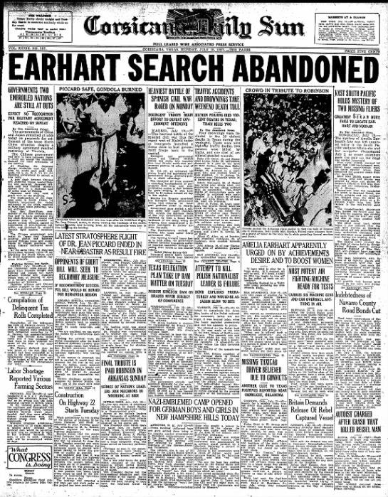 Earhart search abandoned